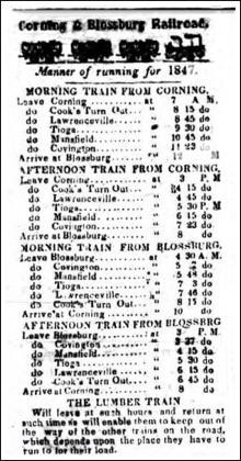 Fall Brook Railway | Newspaper Stories 1849-99