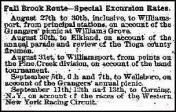 1894 Excursion Information