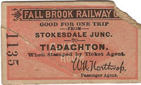 1898 Fall Brook Railway ticket